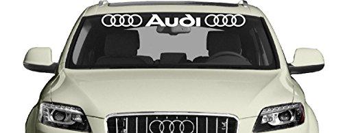 Artstickers4U Auto Car Windschutzscheiben Heckscheiben Aufkleber Sticker passt zu Audi / Plus Schlüsselringanhänger aus Kokosnuss-Schale / Auto racing Tuning Hoonigan A1 A3 A5 A6 TT Q3 Q5 Quattro