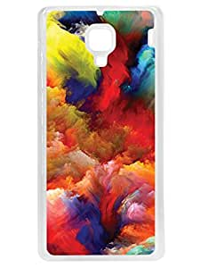RedMi 1S Back Cover - Colorful Clouds - Play With Colors - Designer Printed Hard Case with Transparent Sides