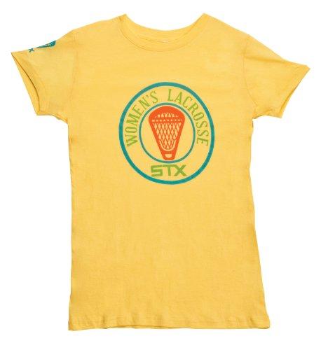Pre Game T-shirt (STX Lacrosse Damen STX Lacrosse Bumper Aufkleber Kurze Ärmel T-Shirt, damen, gelb)