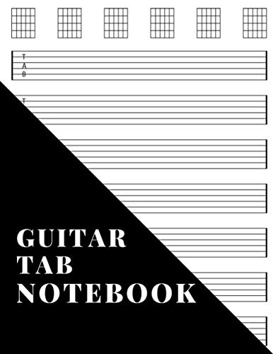Guitar Tab Notebook: Blank Music Journal For