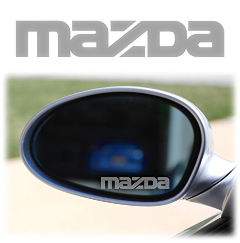 MAZDA WING MIRROR -2 x Spiegelaufkleber aus Milchglasfolie, AUfkleber aus Frostfolie Milchglas Frost wie graviert Gravur Sticker VINYL DECALS STICKERS MX5 MIATA 6 3 MPS