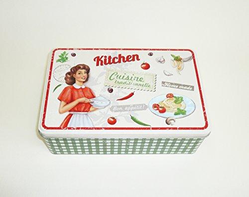 Boîte à sucre métal Vintage Kitchen (M1)