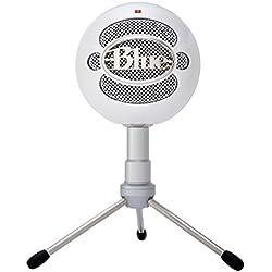 Blue Microphones Snowball iCE - Micrófono de condensador (cardiode, conector USB), color blanco