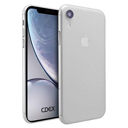 doupi UltraSlim Hülle für iPhone Xr (iPhone 10r) 6,1 Zoll, Ultra Dünn Fein Matte Oberfläche Design Handyhülle, weiß