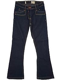 Mädchen blau Kick Schlaghose Schmal Bootcut Mode Jeans größen von 9 bis 14 Jahre