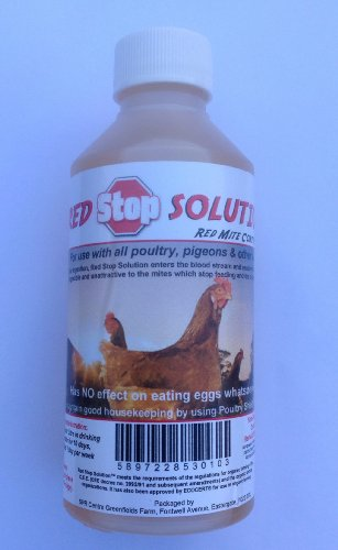 Dragon Poultry 250ml Red Stop Solution Red Mite Control for Chickens Poultry Birds Hatching eggs