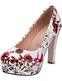 Amazon Es Flores Zapatos De Tacon Zapatos Para Mujer Zapatos Y