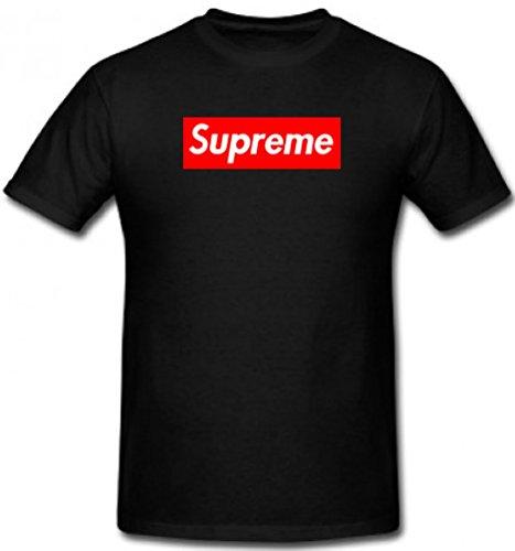 Supreme t-shirt, maglietta con logo supreme, unisex black l