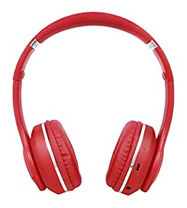 Tronica Bass Rockers Over Ear Bluetooth Headphones with Fm/Sd Card/Aux Support (Red)