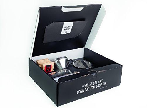 Just Spices Gin Set | Gin zum selbermachen mit 10 verschiedenen Botanicals und Gewürzen | DIY Geschenk für Männer und Frauen | Gin Tonic Baukasten