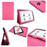Samsung Galaxy TAB 2 10.1 P5100 - (Hot Pink) Leather Case Cover and Flip Stand Typing Case Wallet Plus Free iZKA™ Gift: ProPen Stylus Pen (Touch-Screen Pen) iZKA™ One Stop Shop For All Your Accessory Needs