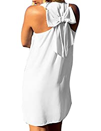 Signore Vestito Abiti Estivi Vestito Spiaggia Mini Abito Boho Lunga Camicia  Donne Vestiti Corti Abiti Cinghie 91bffa0f614