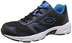 Lotto Mens Dynamo Black and Royal Running Shoes - 9 UK/India (43 EU)
