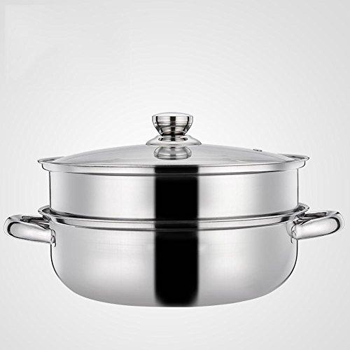 CHUF Acier Inoxydable 28 cm à Soupe Double à Vapeur, 28cm