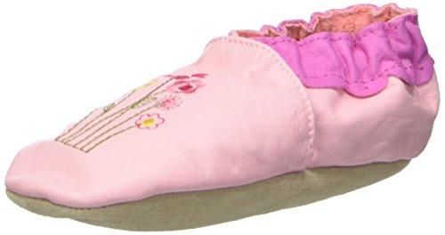 Jack & Lily Originals Flower garden Baby Mädchen Lauflernschuhe Amarillo con motivos en fucsia, rosa, verde y azul