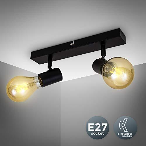 Vintage Deckenleuchte I Retro Deckenlampe exkl. 2x max. 60W E27 Leuchtmittel I Landhausstil Deckenstrahler