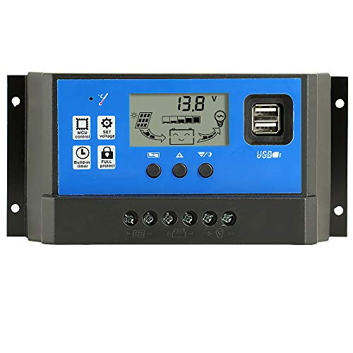 Y&H 40A 12V/24V Solar Panel Laderegler Intelligenter Regler USB Port 5V Licht Timer Control LCD Display