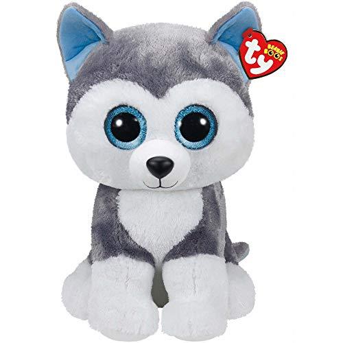 "Beanie Boo Dog - Slush - Husky - 42cm 16"""