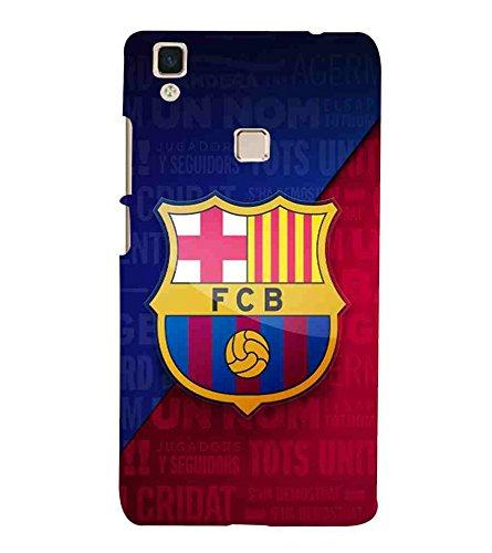 Football, Blue, Sports Pattern, Printed Designer Back Case Cover for Vivo V3