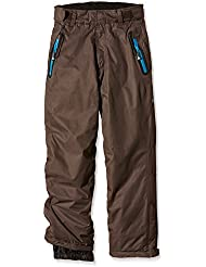 Peak Mountain Edal - Pantalón de esquí para niño, color marrón, tamaño 16 años