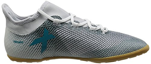 adidas X Tango 17.3 In, Chaussures de Football Entrainement Homme Blanc (Footwear White/Energy Blue/Core Black)