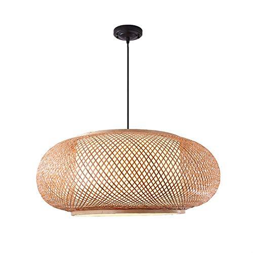 VISTANIA Handgefertigter Bambus Lampenschirm, Pendel Decke Wicker Rattan Lampenschirme Weben Hängendes Licht