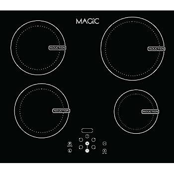 MAGIIC - Table de cuisson à Induction 4 Foyers Magiic Touch - 7200W avec nombreuses fonctions - 4 boosters de puissance - Conçue à Chartres