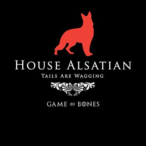 Game Of Bones House Alsatian Game Of Thrones Parody Women's Hooded Sweatshirt Black