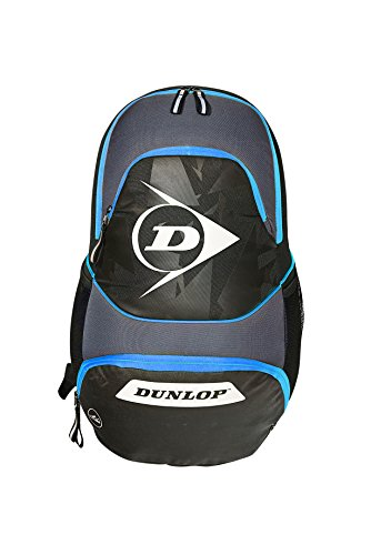 Dunlop Performance Backpack 2017 Tennis Rucksack, Schwarz-Blau, One Size