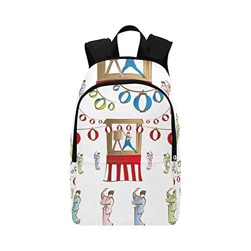 Lässig Daypack Reisetasche Festival Japan College School Rucksack für Männer und Frauen - Nylon-laternen Japanisch