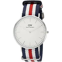 Daniel Wellington Men's Quartz Watch Classic Canterbury 0202DW with Plastic Strap