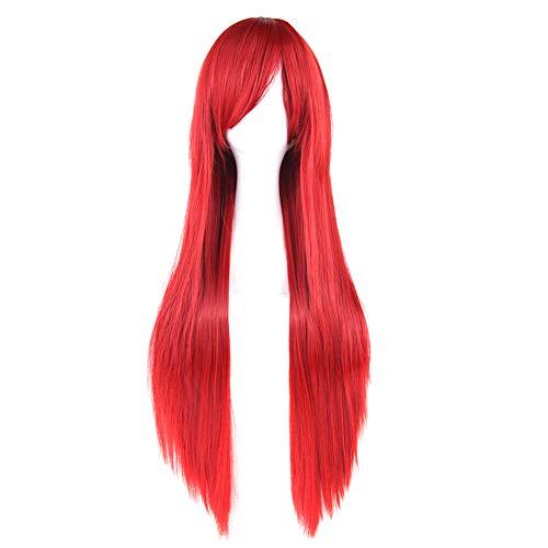 Chakil 80cm Glattes Haar Cosplay Perücke mit Perückenkappe Anime Cosplay Wigs + Perücke Cap