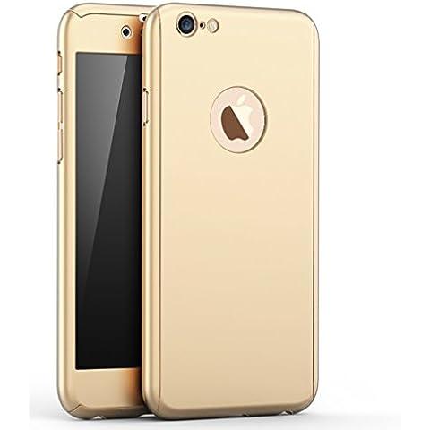 Custodia iPhone 7 360 Gradi, Yoowei® Ultra Sottile PC Copertura Anteriore Indietro Cover con Pellicola Vetro Temperato Protettiva Schermo Protezione completa del corpo Duro Case per iPhone 7 4.7