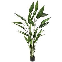 Heliconia ANURIA, 32 hojas, verde, 220 cm - Planta artificial / Maceta decorativa - artplants