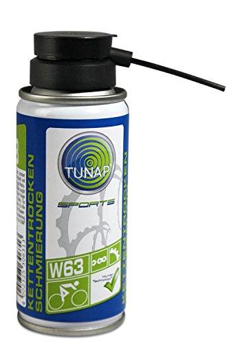 TUNAP SPORTS Kettenwachs, 100 ml | Fahrrad-Trockenschmierung Spray für die Kette auf Wax-Basis für MTB, Rennrad (Vers.2016)