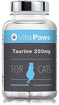 Taurine 250mg pour chat 180 Gélules | Acide Aminé Essentiel pour les Chats | Soutient la santé du Coeur | Fabriqué au Royaume-Uni