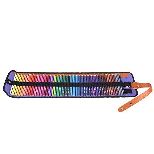Jinxuny Buntstifte 72 Farben Kunststifte Set Schule Student Kunst Bleistifte Etui + Spitzer Zeichnen Skizzieren Set