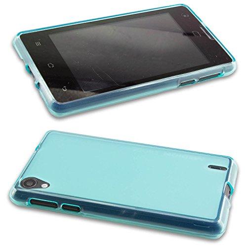 caseroxx TPU-Hülle für Medion Life E4005, Tasche (TPU-Hülle in blau)