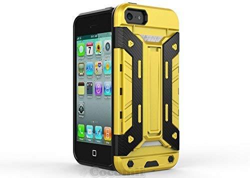 Cocomii Transformer Armor iPhone SE/5S/5C/5 Hülle [Strapazierfähig] Eingebaut Brieftasche Ständer Stoßfest Gehäuse [Militärisch Verteidiger] Case Schutzhülle for Apple iPhone SE/5S/5C/5 (T.Yellow) (Armor 5c Iphone Body)
