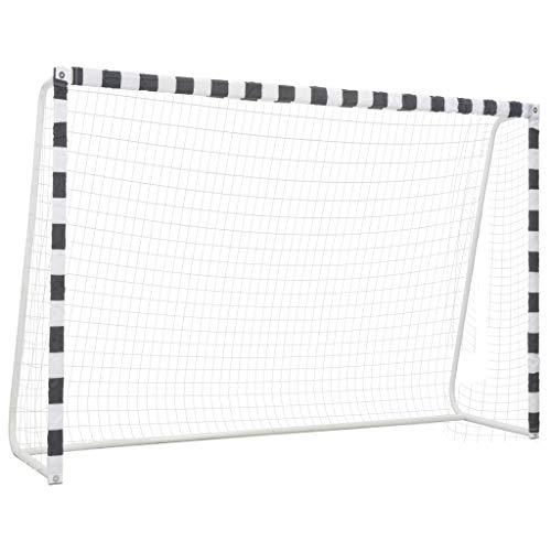 Festnight Fußballtor 300 x 200 x 90 cm Metall Schwarz und Weiß Geeignet für Erwachsene und Kinder oder Sportwettkämpfe