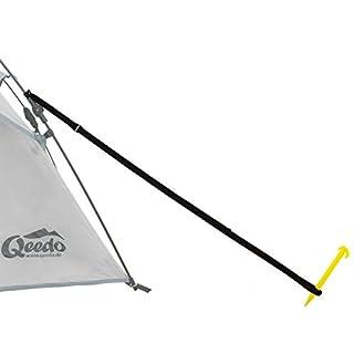 Sturmleinen 4-er Set, Qeedo Quick Storm Set - Robustes Abspannleinen-Set für Quick Up Zelte