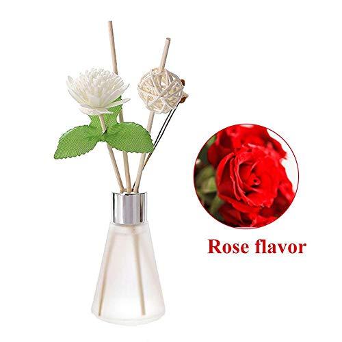 huyipin Duftöldiffusoren Raumdüfte Duftöle Aromatherapie Ätherische Öle Essential Oil Reed Diffuser Air Freshener Herbal Scent Home Fragrance (Rose) -