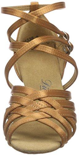 Diamant Diamant Damen Latein Tanzschuhe 108-087-379, Chaussures de Danse de salon femme Braun (Tan dunkel)