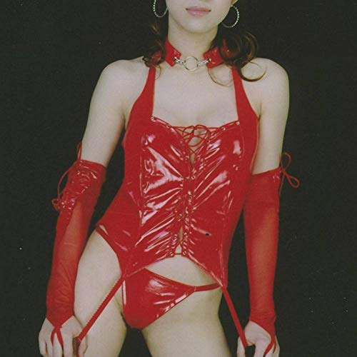 Heiße Super Kostüm - CYY Frauen Lackleder Stretch eng anliegende Stahlrohr heißen Tanzkostüm Club Sängerin DS Kostüm