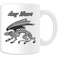 Regalo personalizzato–Hellhound tazza, motivo: Fairy Tale, bianco)–qualsiasi nome/messaggio personalizzato–Demon Dog