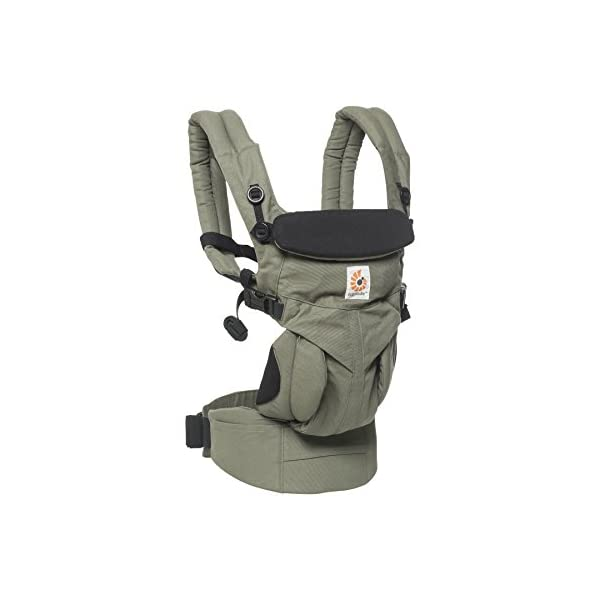 ERGObaby Baby Carrier Newborn to Toddler, 4-Position Omni 360 Khaki Green, Front Back Child Carrier Ergobaby Ergonomic Baby carrier with 4 wearing positions: parent facing, on the back, on the hip and on the front facing outwards. Four ergonomic carry positions and easy to use. Adapts to baby's growth: Infant baby carrier newborn to toddler (7-33 lbs./ 3.2 to 20 kg), no infant insert needed. Maximum comfort for parents: Longwear comfort with lumbar support waistbelt and extra cushioned shoulder straps. 3