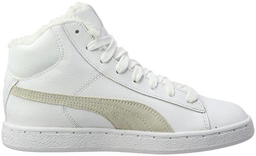 Puma 1948 Mid L Fur, Baskets Hautes Mixte Adulte Blanc (White-white)