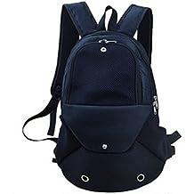 YOUJIA Perro Mochila Ajustable bolso de Pecho portátil Frente Transpirable para Pequeña mascota / Cuadrícula Negro
