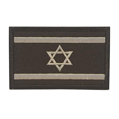 Kostüm Israel - Cobra Tactical Solutions Military Besticktes Patch Israel Israeli Schwarze Flagge mit Klettverschluss für Airsoft/Paintball für Taktische Kleidung/Rucksack