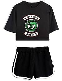 Riverdale Southside Crop Top und Hosen 2 Stück Kleidung Casual Crop T-Shirt und Shorts Set